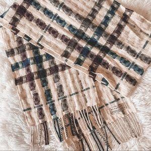 RARE Burberry wool/cashmere plaid scarf